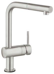 Grohe Minta L touch keukenkraan super steel met handdouche 31360DC0